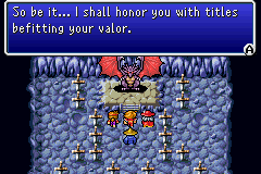 Final Fantasy I - The Light Warriors are rewarded for their courage