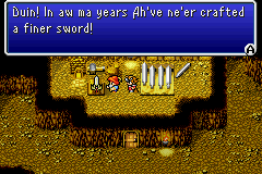 The Light Warriors obtain Excalibur from a dwarf with a questionable accent
