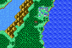 The town of Onrac from Final Fantasy I