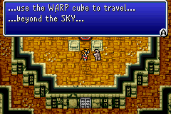 A robot tells the Light Warriors how to travel to the Flying Fortress