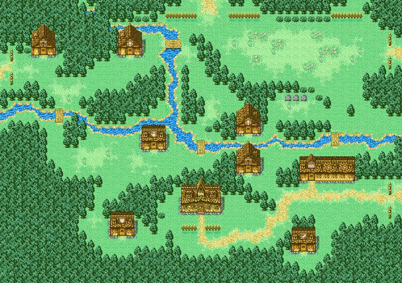 The city of Elfheim, as seen in Final Fantasy I & II: Dawn of Souls