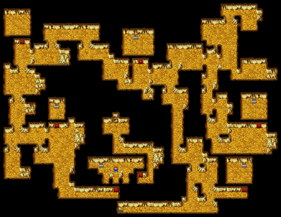 Ff1 Cavern Of Earth Map.Cavern Of Earth B3 Final Fantasy I Walkthrough