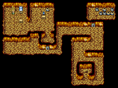 Ff1 Cavern Of Earth Map.Sage S Cave Final Fantasy I Walkthrough